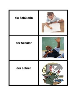 Schulsachen in German Concentration games