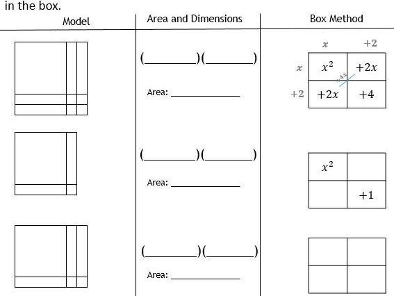Quadratics: Factorising Trinomials with Algebra tiles