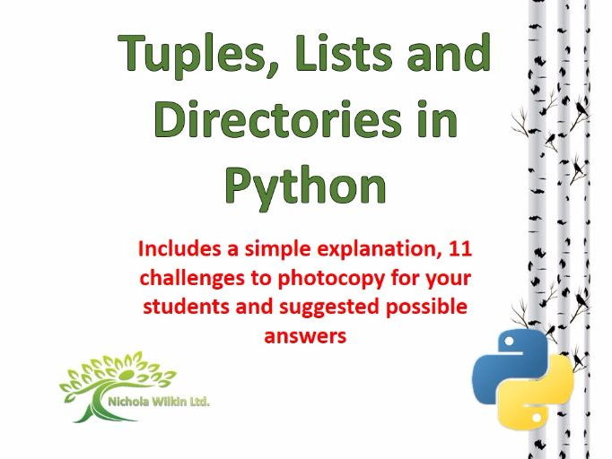 Tuples, Lists and Directories in Python