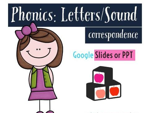 Letter/Sound Object Correspondence [Phonics] Google Slides or PPT- Phase 1