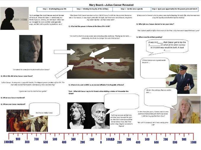 BBC - Julius Caesar Revealed - Worksheet to support the Mary Beard BBC Documentary