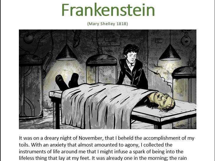 19th Century Frankenstein Workbook