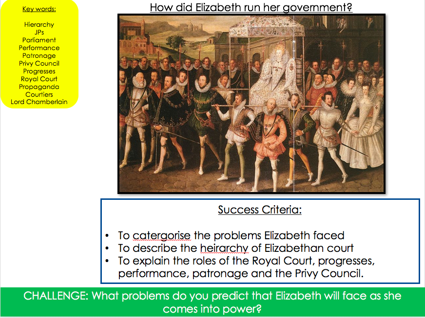 How did Elizabeth run her government?