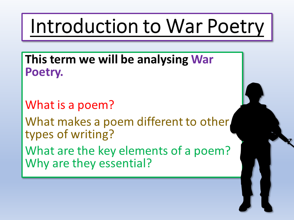 War Poetry Introduction