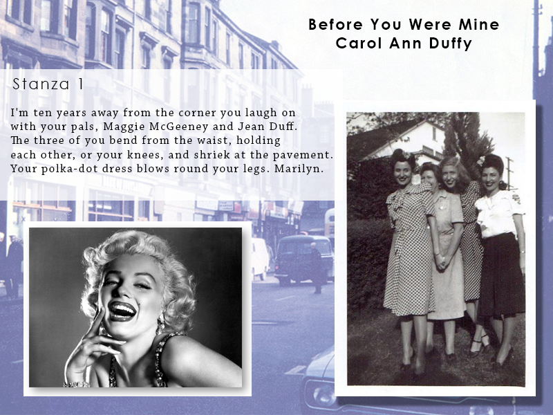 AQA Poetry Differentiated - Before You Were Mine (Love and Relationships Unit)(KS4)