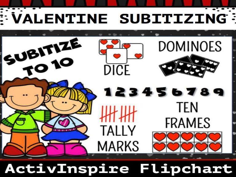 Valentine Subitizing 0-10 Flipchart