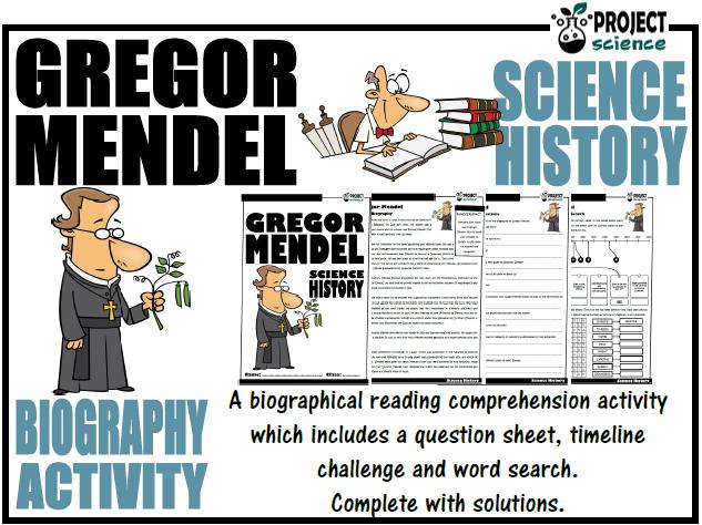 Gregor Mendel Biography Activity