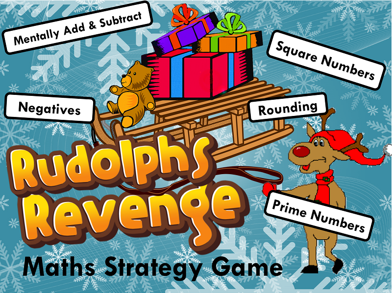 Number Skills Maths Strategy Game - Christmas Edition
