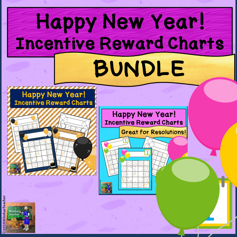 Happy New Year! Incentive Reward Sticker Charts *BUNDLE