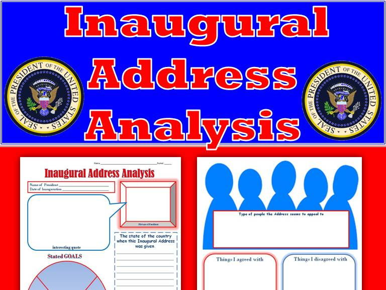 Inaugural Speech Viewing Guide for ANY President (Print and Digital)