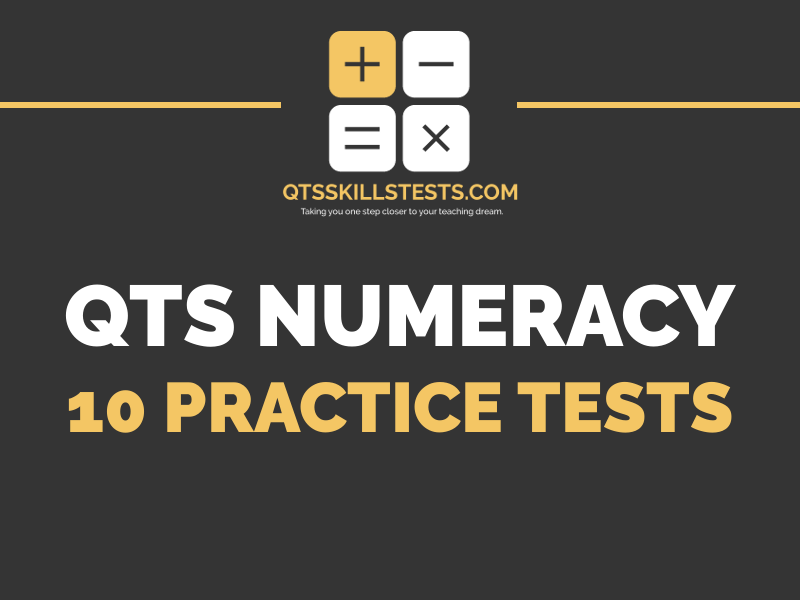 Pack of 10 Practice QTS Numeracy Skills Tests