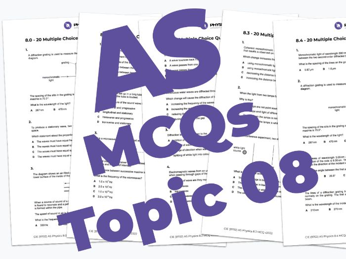 AS Physics 9702 - MCQs - 08. Superposition
