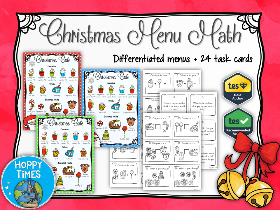 Christmas Menu Maths FREE with CODE WOWVEMBER