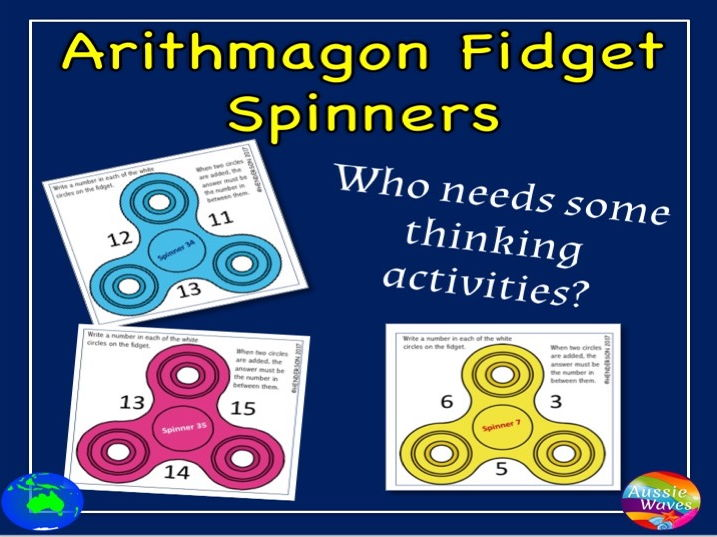 Maths Puzzles using Arithmagons andFidgets for Thinking Students