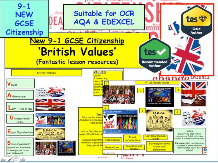 New GCSE Citizenship (9-1) Topic: British Values and Britishness