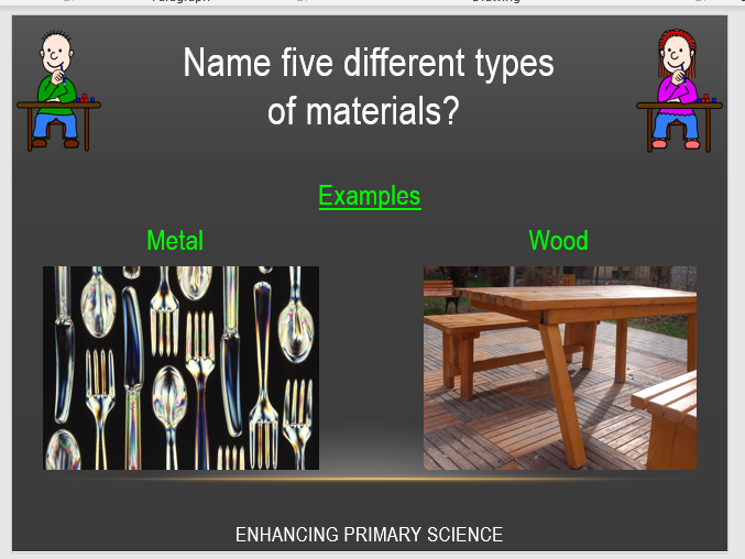 EVERYDAY MATERIALS (YEAR 1)
