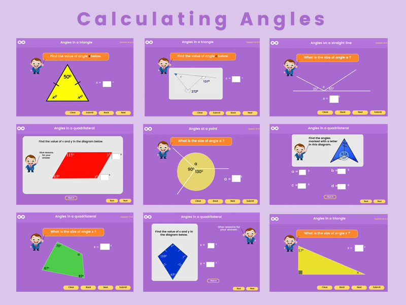 Calculating Angles - Key Stage 3