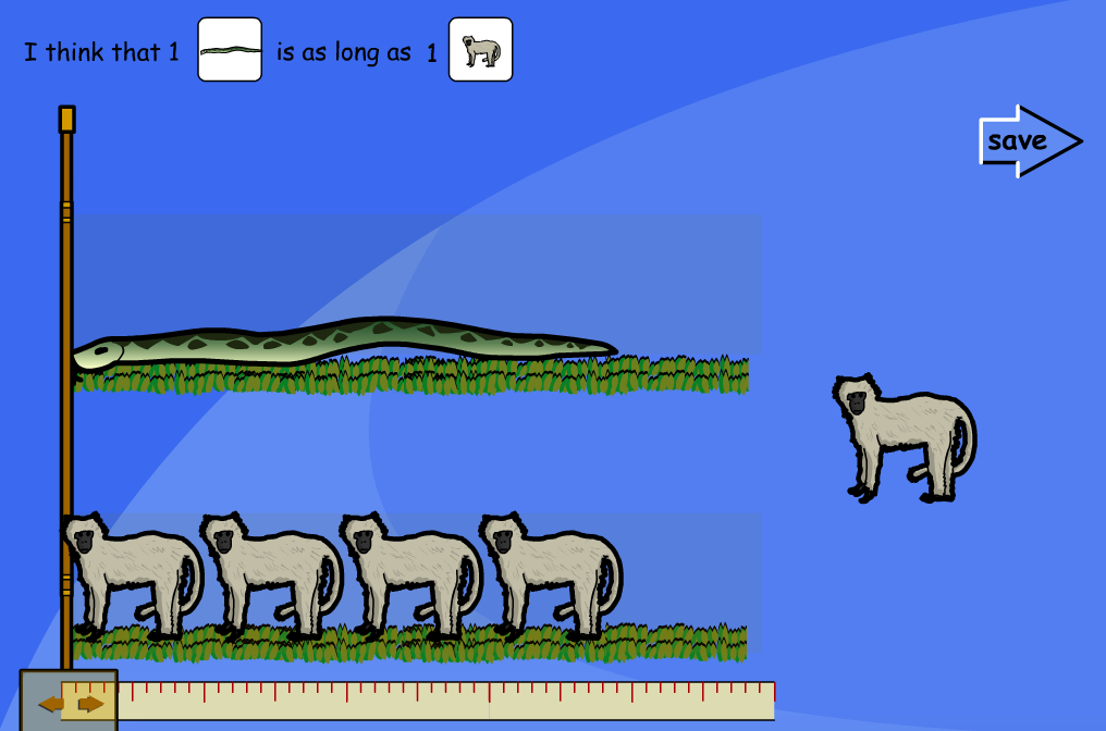 Compare Animal Length Interactive Activity - KS1 Measurement