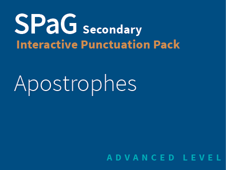 SPaG Secondary Interactive Punctuation Pack - Apostrophes (Advanced Level)
