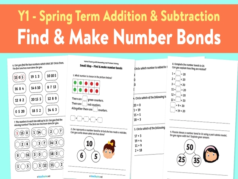 Find and Make Number Bonds: Spring Term, Block 1 – Addition and Subtraction – Weeks 1-4