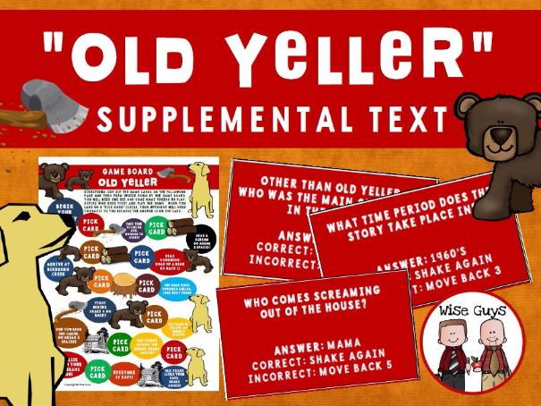 Old Yeller Game Board Activity