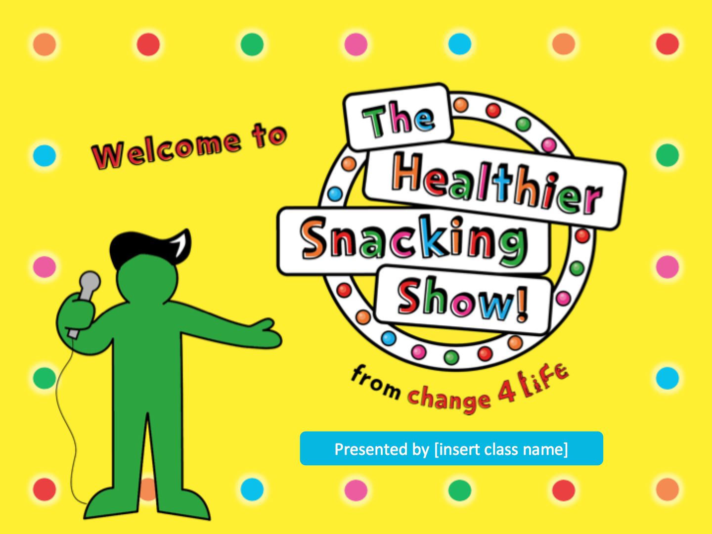 The Healthier Snacking Show: lower KS2 PowerPoint