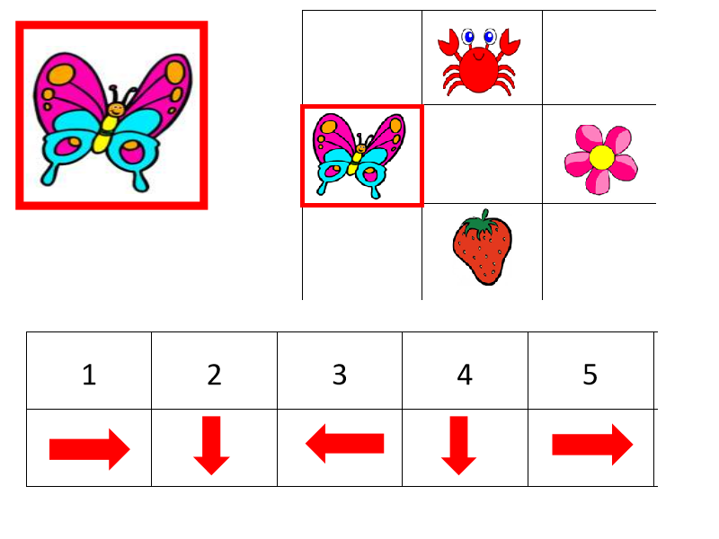 Ks1-A flying butterfly (Direction movement) - Board games & floor games