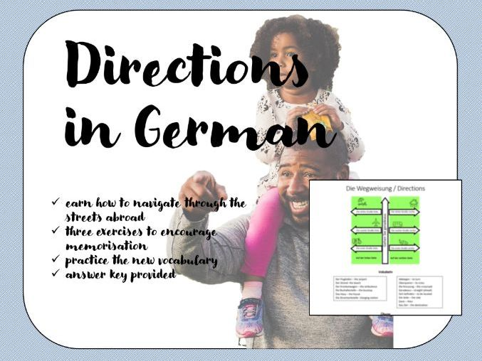 Directions in German