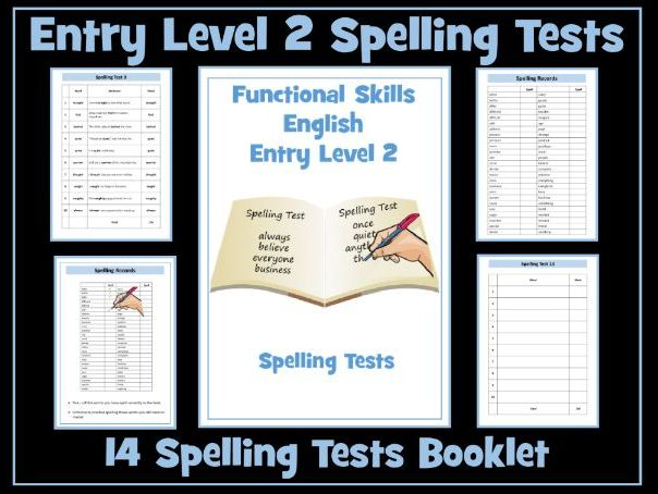 English Functional Skills - Entry Level 2 - Spelling Tests