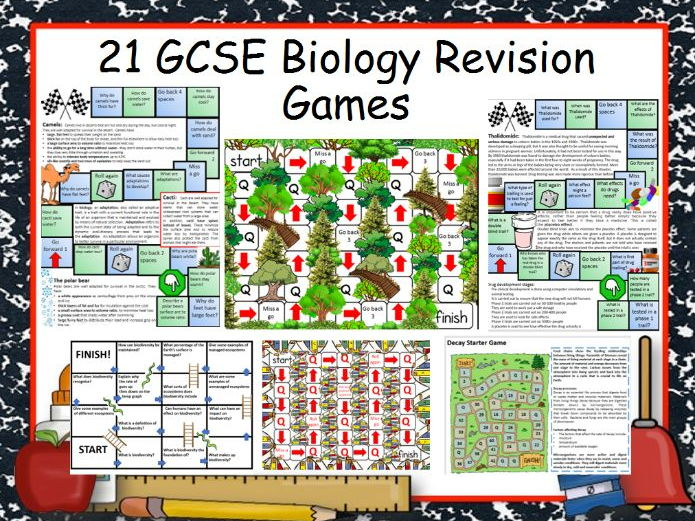 21 GCSE Biology Revision Games