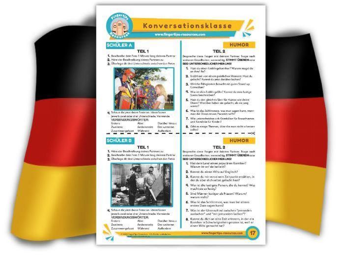 Humor - German Speaking Activity