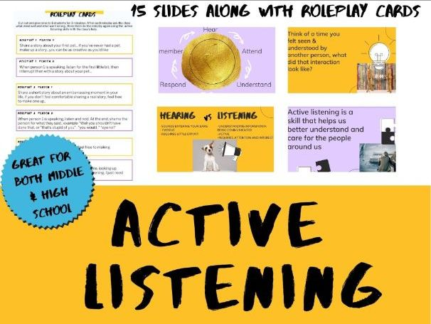 Active Listening Lesson/Activity