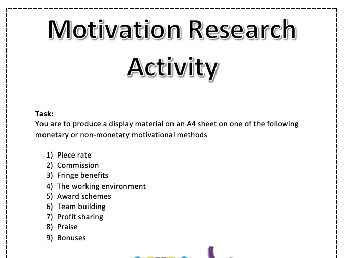 Motivation Research Task