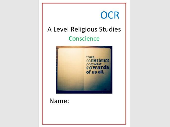 OCR: Religion and Ethics: Conscience Workbook