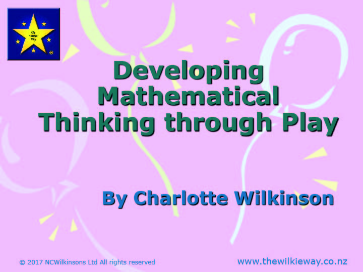 Developing Mathematics Thinking Through Play