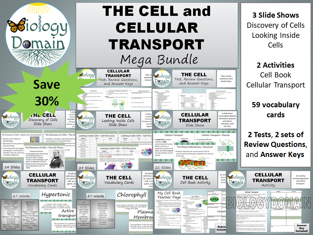 The Cell and Cellular Transport Mega Bundle Save 30%!