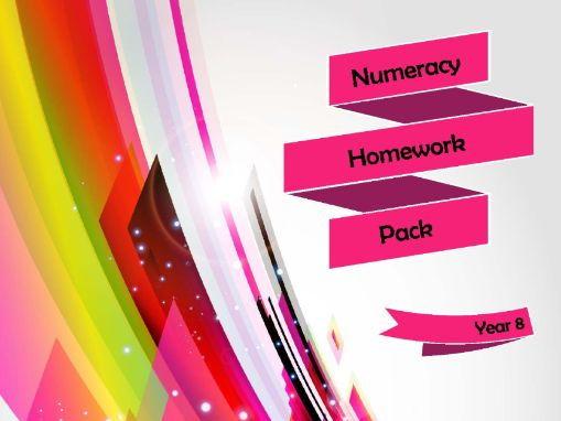 Year 8 Numeracy Homework Pack