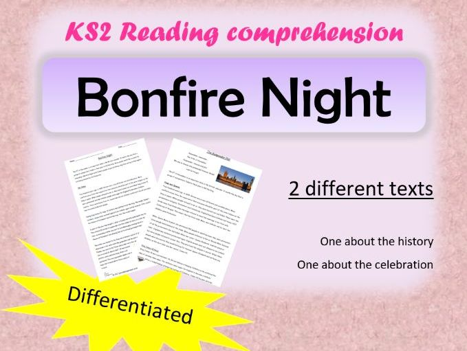 Bonfire Night and Guy Fawkes Reading Comprehension