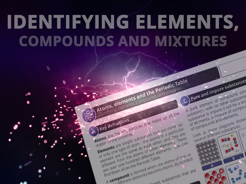 Identifying elements, compounds and mixtures