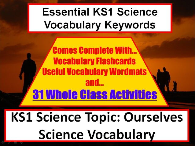 KS1 Ourselves Science Vocabulary List and Spelling List + Word Mat + 31 Fun Teaching Activities