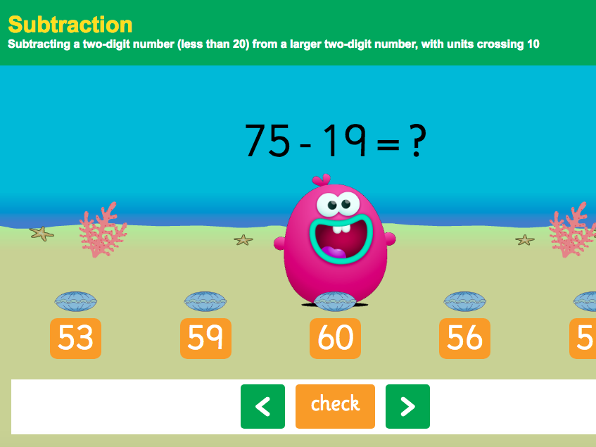 Subtraction to 100 - Subtracting Two Two-Digit Numbers Interactive Game 2 - KS1 Number