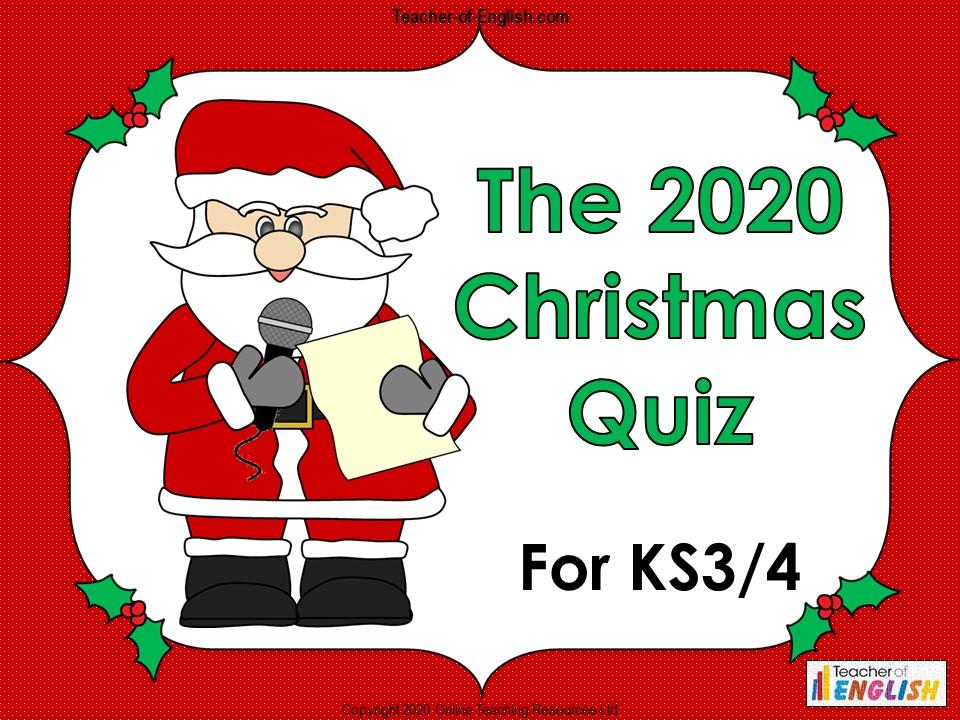 The BIG 2020 Christmas Quiz for KS3 and KS4