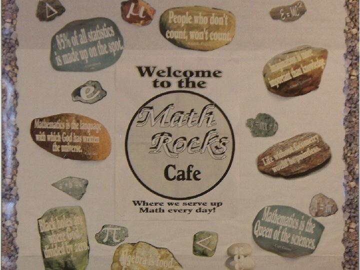 Math Rocks bulletin board