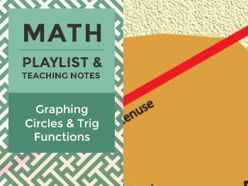Graphing Circles & Trig Functions - Playlist and Teaching Notes