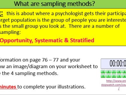 GCSE Psychology: Research Methods - Sampling