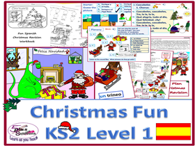 "PRIMARY SPANISH CHRISTMAS PACK (KS2/3): learning ""Jingle Bells"" in Spanish plus Christmas workbook"
