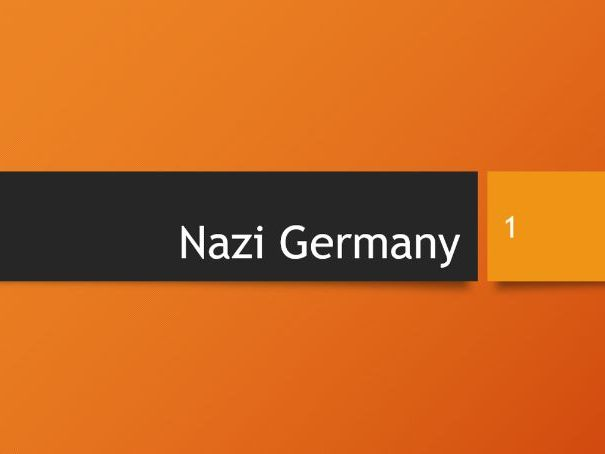 History - Weimar and Nazi Germany GCSE Revision PowerPoint 9-1