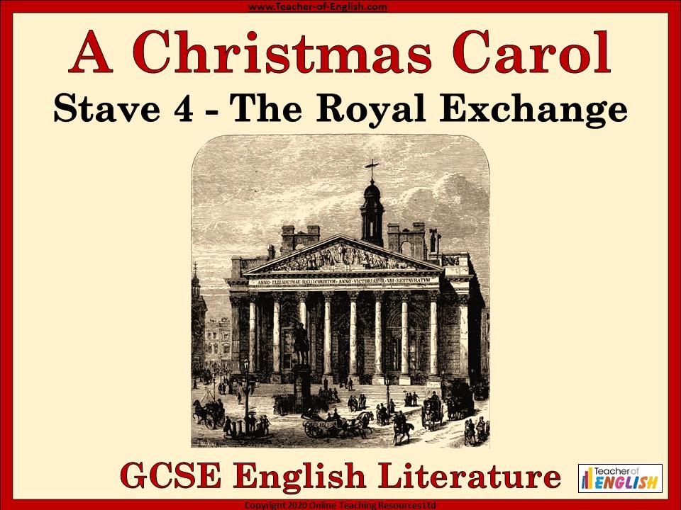 A Christmas Carol (GCSE) The Royal Exchange