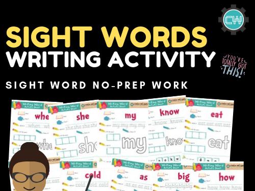 Sight Words: Writing Activities