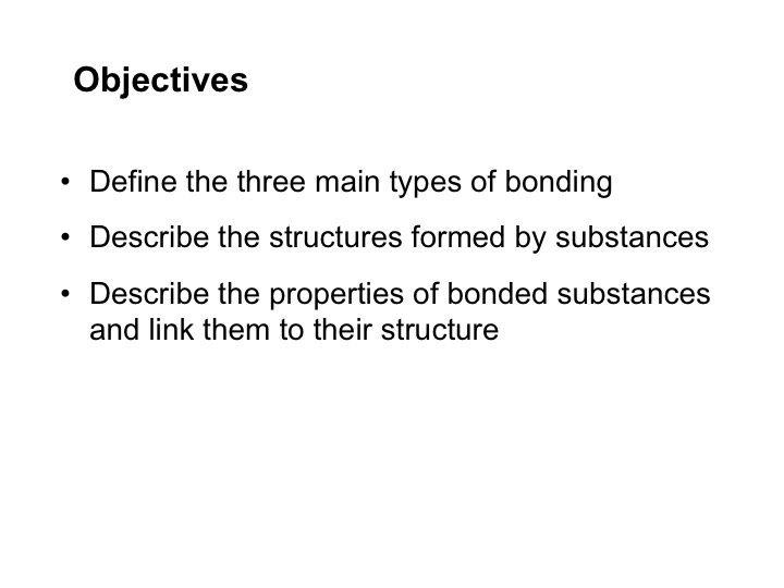 Powerpoint for structure and bonding